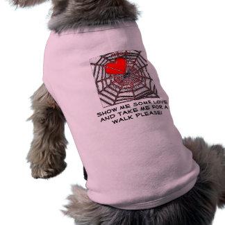 Ninguna tarjeta del día de San Valentín del escape Playera Sin Mangas Para Perro