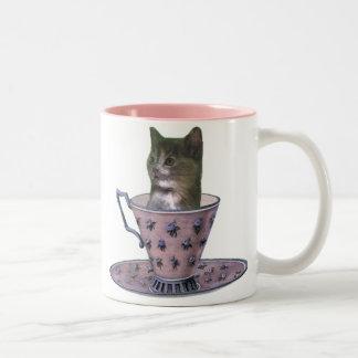 Ninguna taza añadida del gatito del azúcar