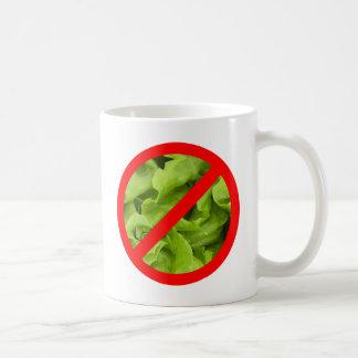 NINGUNA taza del símbolo de la lechuga