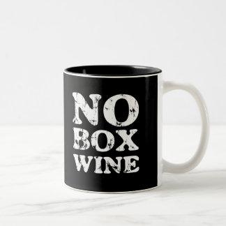 Ninguna taza del vino de la caja