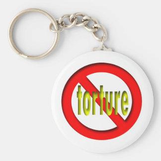 Ninguna tortura llavero personalizado