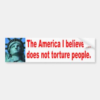 Ninguna tortura pegatina para auto