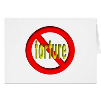 Ninguna tortura tarjeta