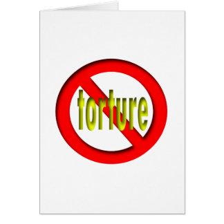 Ninguna tortura tarjeton
