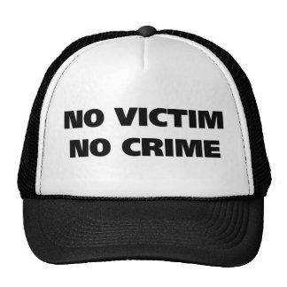 Ninguna víctima ningún gorra del crimen