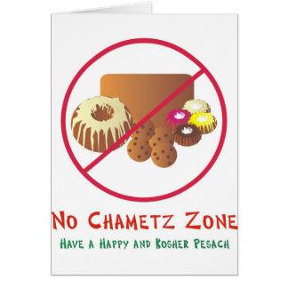 Ninguna zona de Chametz Tarjeta De Felicitación