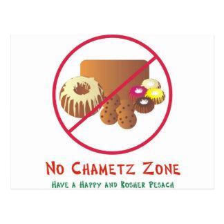 Ninguna zona de Chametz Tarjeta Postal