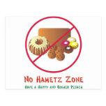 Ninguna zona de Hametz Postales