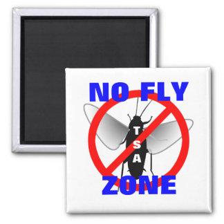 Ninguna zona de mosca imán cuadrado