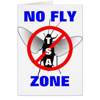 Ninguna zona de mosca tarjeta de felicitación