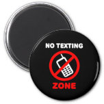 Ninguna zona de Texting Imán De Frigorífico
