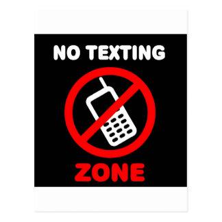 Ninguna zona de Texting Tarjetas Postales