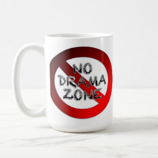 Ninguna zona del drama taza de café