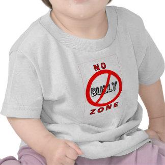 Ninguna zona del matón camisetas