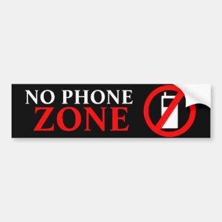 Ninguna zona del teléfono etiqueta de parachoque