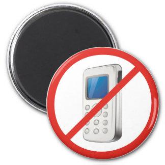 Ninguna zona del teléfono imán redondo 5 cm