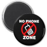 Ninguna zona del teléfono imán de frigorifico