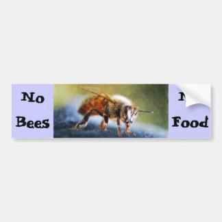 Ningunas abejas ninguna comida pegatina para auto