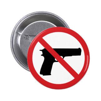 Ningunas armas de mano pins