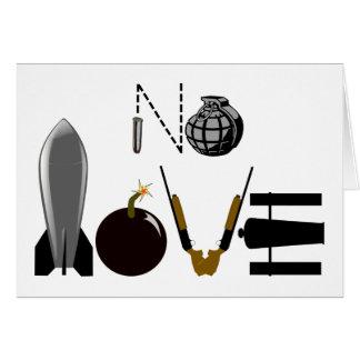 Ningunas armas del amor tarjeta de felicitación