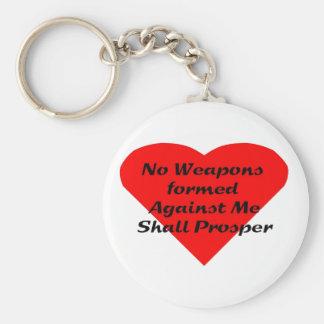 Ningunas armas formadas contra mí prosperarán llavero personalizado