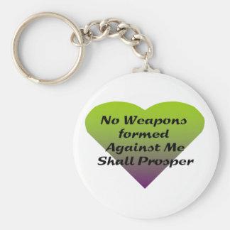 Ningunas armas formadas contra mí prosperarán llavero redondo tipo pin