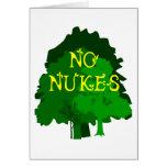 Ningunas armas nucleares con decir verde de los ár felicitación