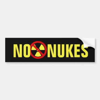 Ningunas armas nucleares pegatina para auto
