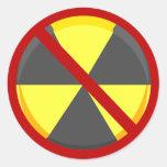 Ningunas armas nucleares pegatina redonda