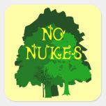 Ningunas armas nucleares que dicen con los árboles pegatinas cuadradases