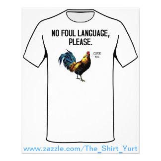 "Ningunas aves del lenguaje grosero folleto 4.5"" x 5.6"""