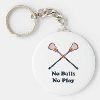 Ningunas bolas ningún juego LaCrosse Llavero Redondo Tipo Pin