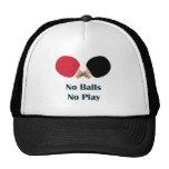 Ningunas bolas ningún ping-pong del juego gorras de camionero