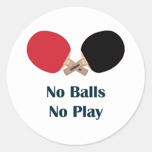 Ningunas bolas ningún ping-pong del juego etiquetas redondas