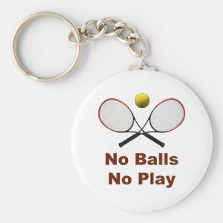 Ningunas bolas ningún tenis del juego llavero redondo tipo pin
