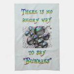 Ningunas burbujas enojadas toalla de mano