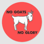 Ningunas cabras ninguna gloria etiqueta