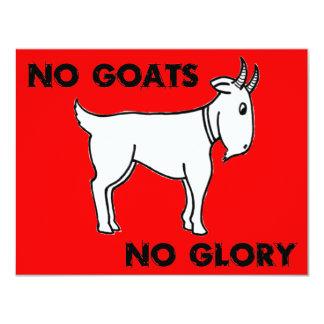 Ningunas cabras ninguna gloria invitación 10,8 x 13,9 cm