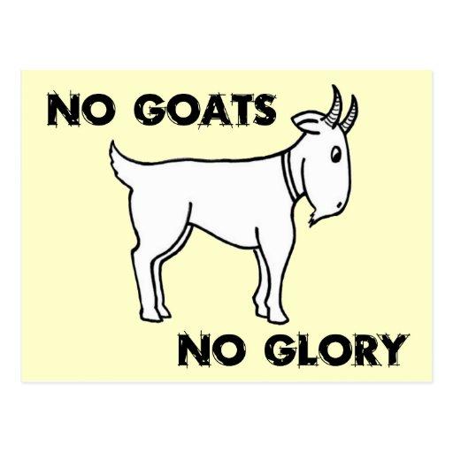 Ningunas cabras ninguna gloria postal