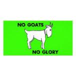 Ningunas cabras ninguna gloria tarjetas fotograficas