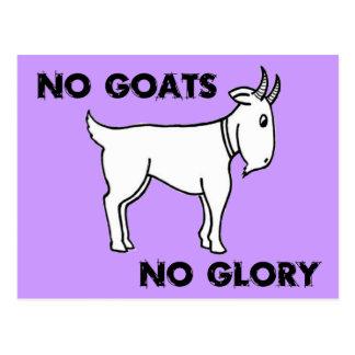 Ningunas cabras ninguna gloria tarjeta postal