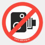 Ningunas cámaras de la velocidad etiquetas redondas