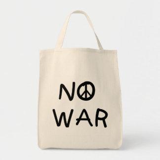 NINGUNAS camisetas y regalos de la guerra Bolsa Tela Para La Compra