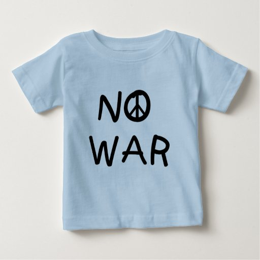 NINGUNAS camisetas y regalos de la guerra Playera