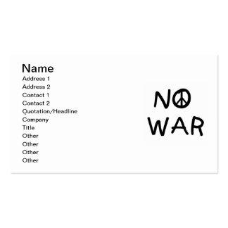 NINGUNAS camisetas y regalos de la guerra Tarjetas De Visita