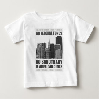 Ningunas ciudades del santuario playera de bebé