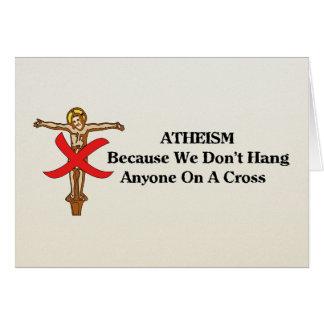 Ningunas cruces tarjeta de felicitación