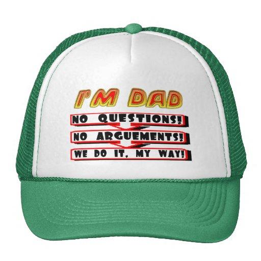 Ningunas discusiones con los regalos del día de pa gorras
