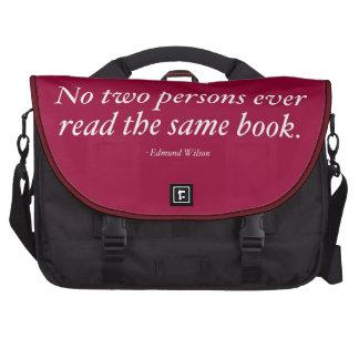 Ningunas dos personas leen nunca el mismo libro bolsas de ordenador