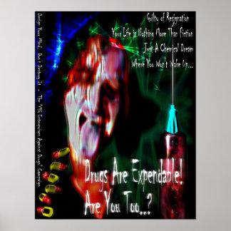Ningunas drogas diseño 2 poster